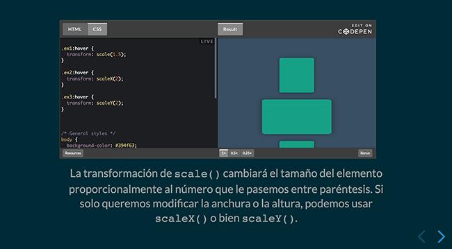 Ejemplo de presentación autoexplicativa con código interactivo