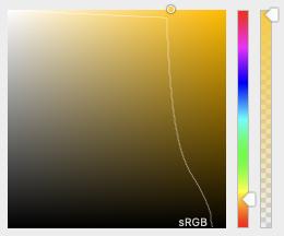 El selector de color de Safari nos muestra los colores que están fuera del rango de sRGB