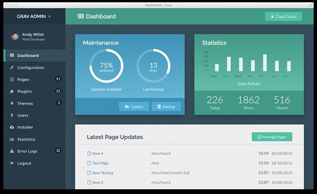 grav-admin-dashboard